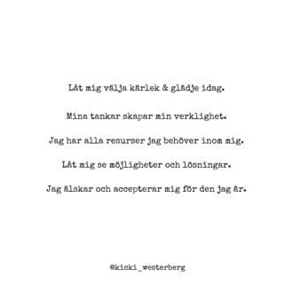 Exemple på affirmationer Kicki Westerberg
