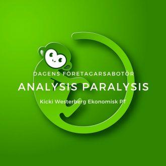 företagarsabotör analysis paralysis