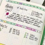 bullet journal tre punkter per dag