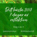 Ditt bästa 2018 - sju dagar av reflektion