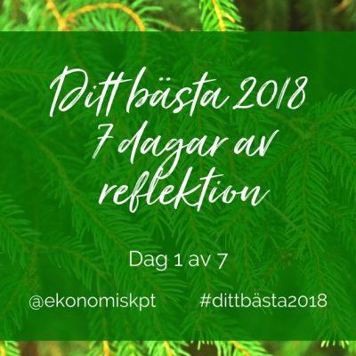 Ditt bästa 2018 dag ett – 7 dagar av reflektion med Ekonomisk PT