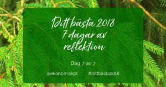 Ditt bästa 2018 dag sju - sju dagar av reflektion