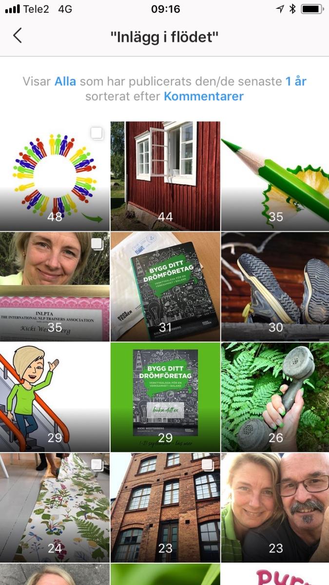 Engagemang på instagram Ekonomisk PT