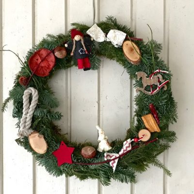 Söndag – lös & ledig och en och annan julkrans